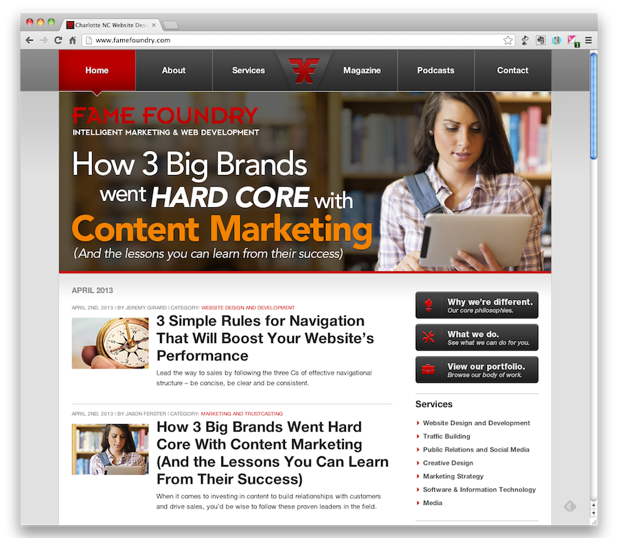 Content Marketing Strategy Lessons From Three Big Brands - Fame Foundry Article