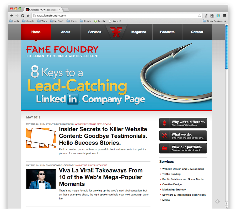 8 Keys to a Lead-Catching LinkedIn Company Page - Fame Foundry Article
